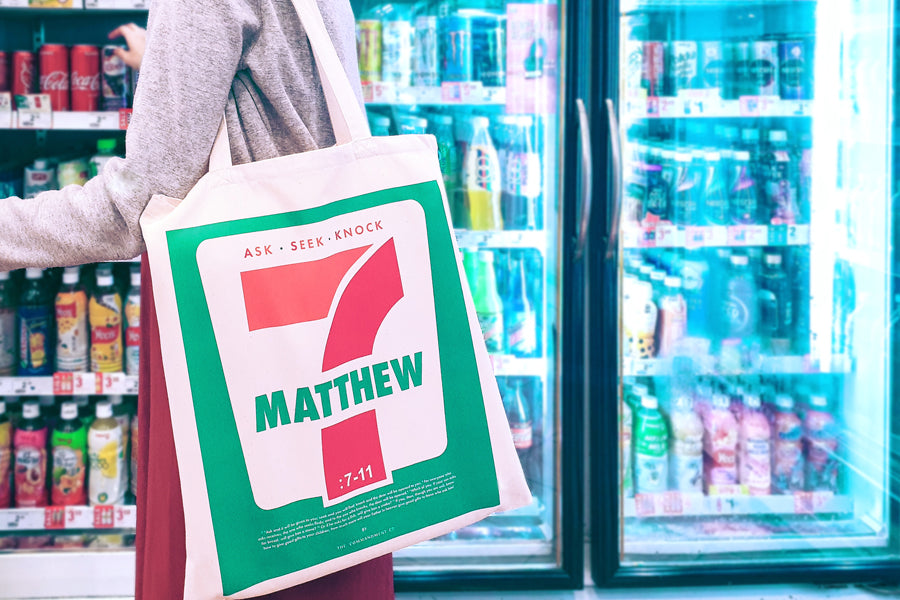 7-11 Matthew 7 - ASK {Tote Bag}