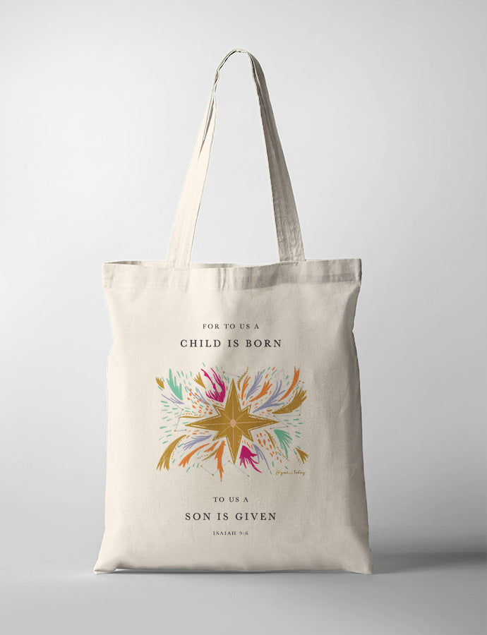 A Child is Born {Tote Bag}