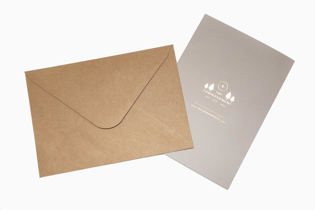 Each card comes with a brown envelope. In picture: The gray card comes with a brown envelope.
