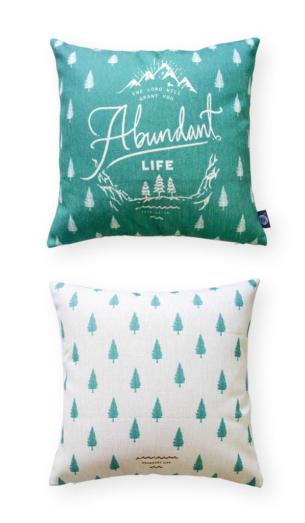 abundant life christian pillow cushion cover bible verses