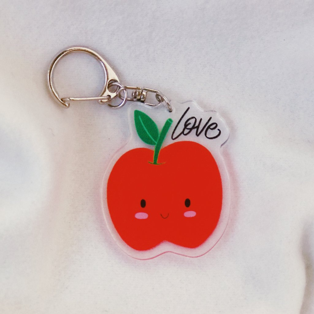 Love {Apple} | Acrylic Keychain