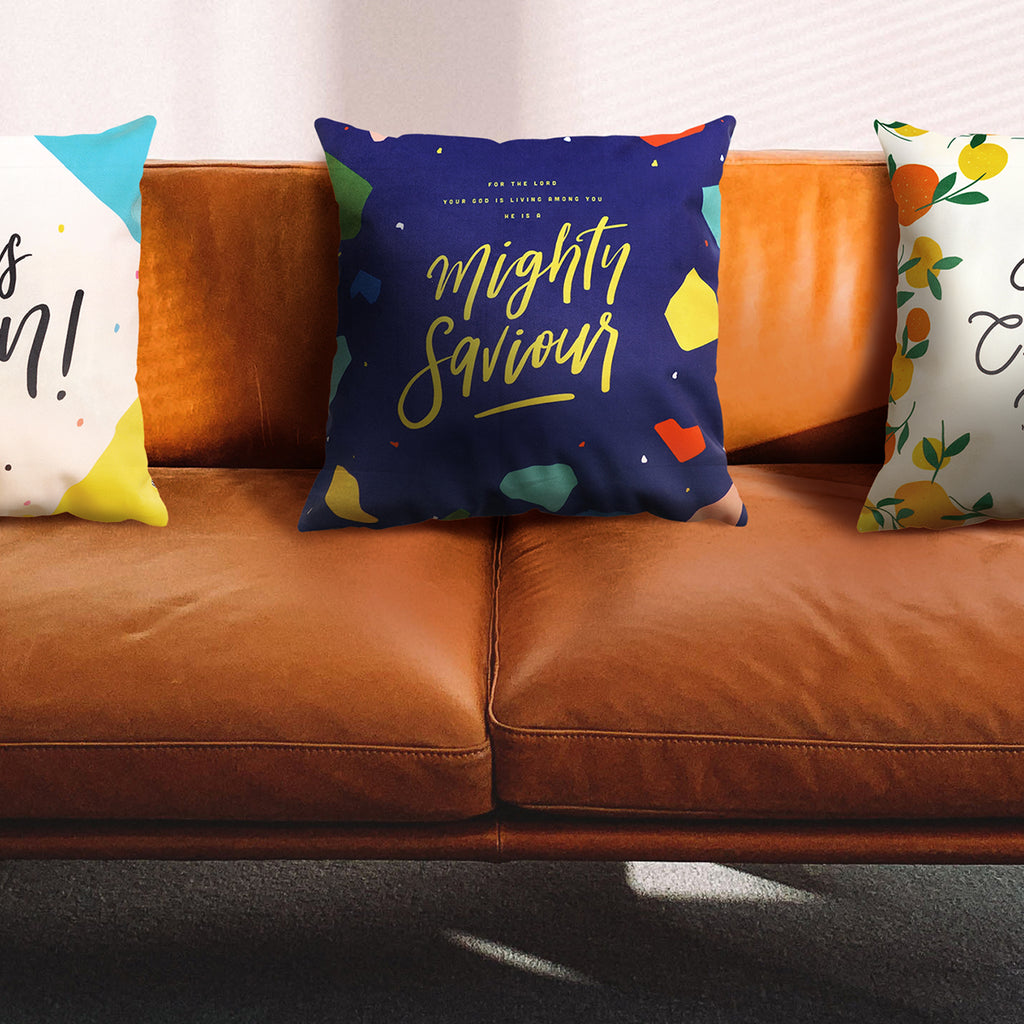 He Is A Mighty Saviour {Cushion Cover}