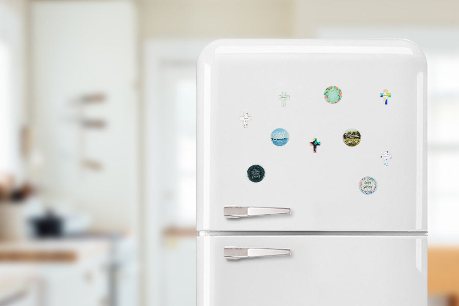 Fridge magnet adds a splash of colour and inspiration  to homes.