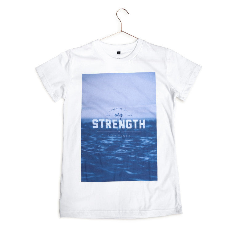 Hipster Christian tee The Lord is my strength and song