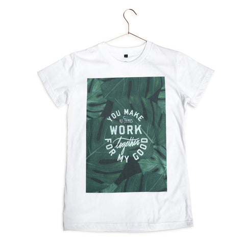 Modern Christian tee design All Things Work Together For My Good