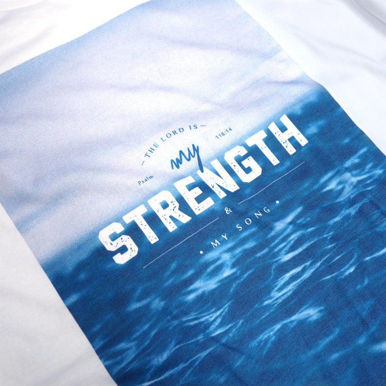 Hipster Christian tees The Lord is my strength and song
