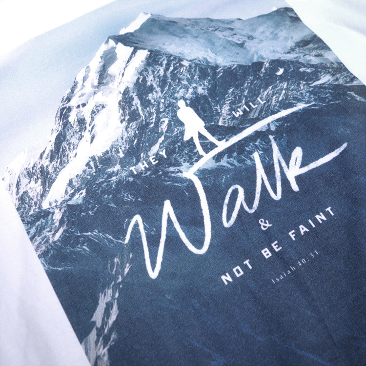 Contemporary Christian T-shirts design They will walk and not be faint