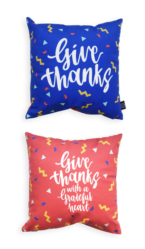 Give thanks with a grateful heart cushion cover. Great ideas for living rom decoration. Perfect for family couch