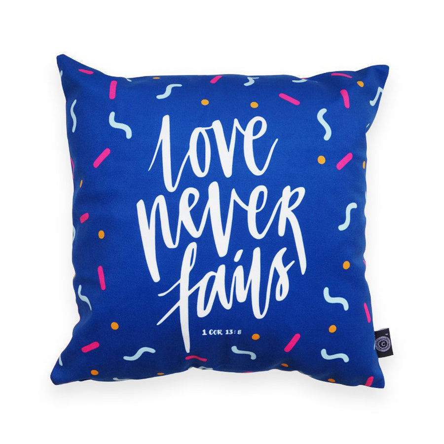 Love Never Fails {Cushion Cover}