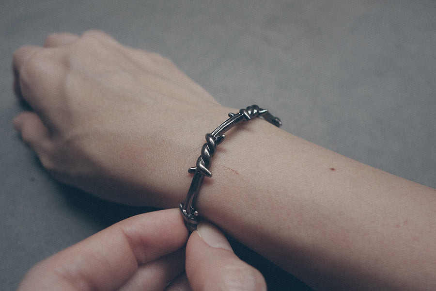 Stylish crown of thorns wristband. Bangle.
