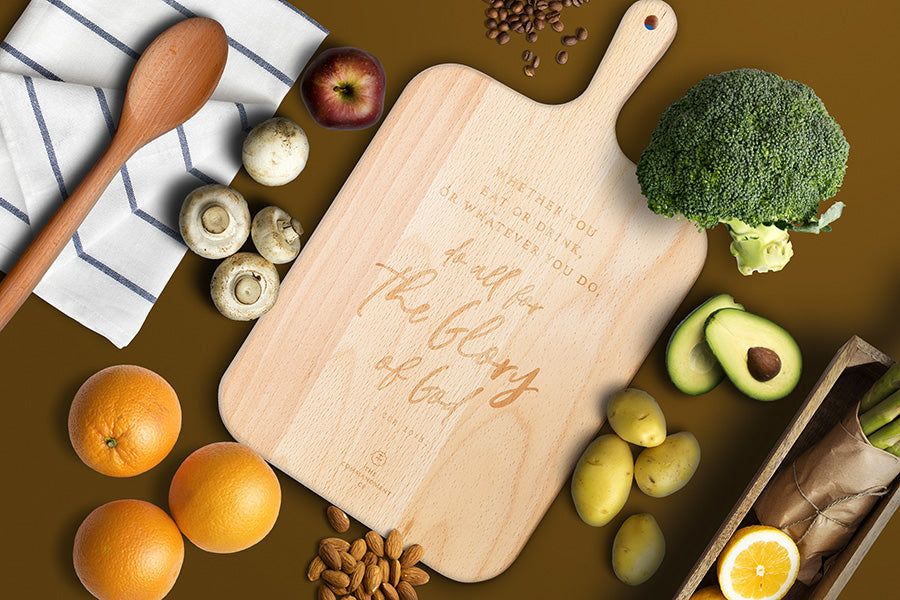 Do All For The Glory Of God {Wooden Cutting Board}