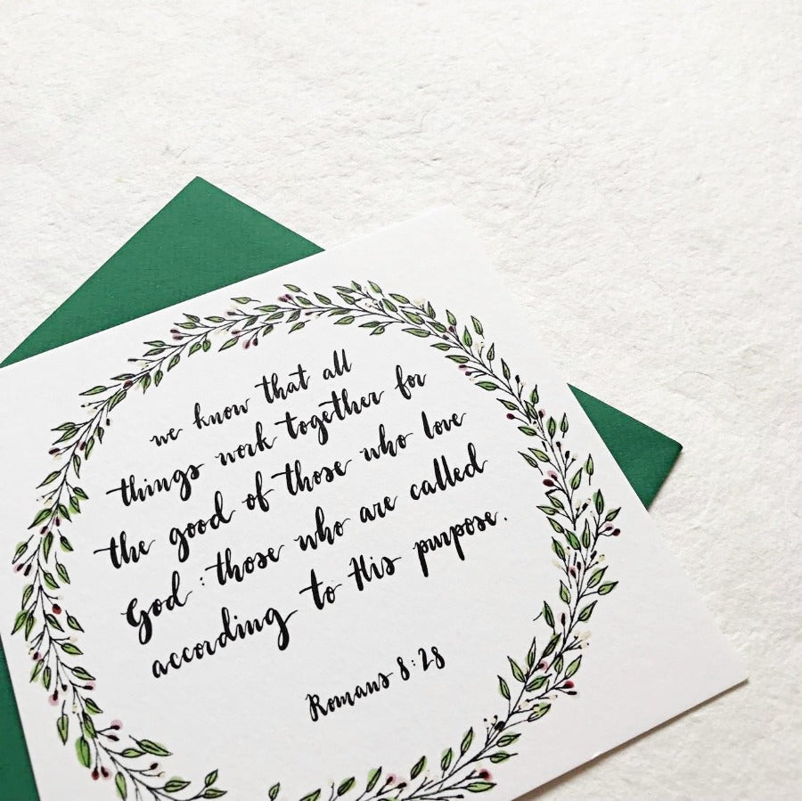 All Things Work Together Romans 8:28 | Greeting Cards