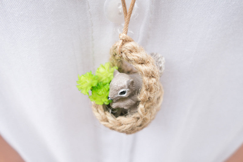 Praying Squirrel Necklace