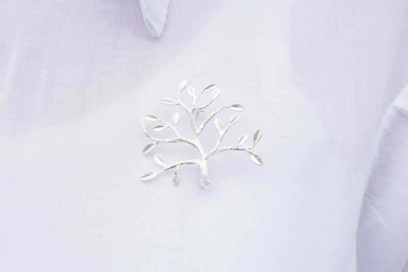 Silver brooch pin. Fruitful tree :)