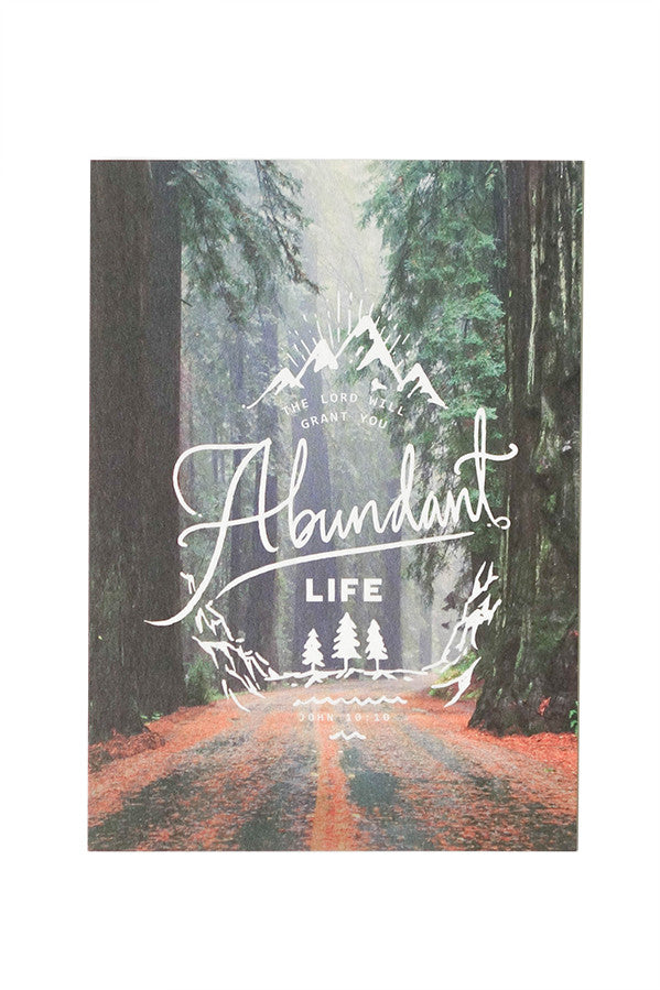 The Lord will grant you abundant life christian verse card design