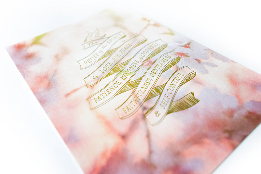 Christian verse card (Paper Size A6, 300GSM Paper, Printed in Singapore) design: Fruits of the spirit