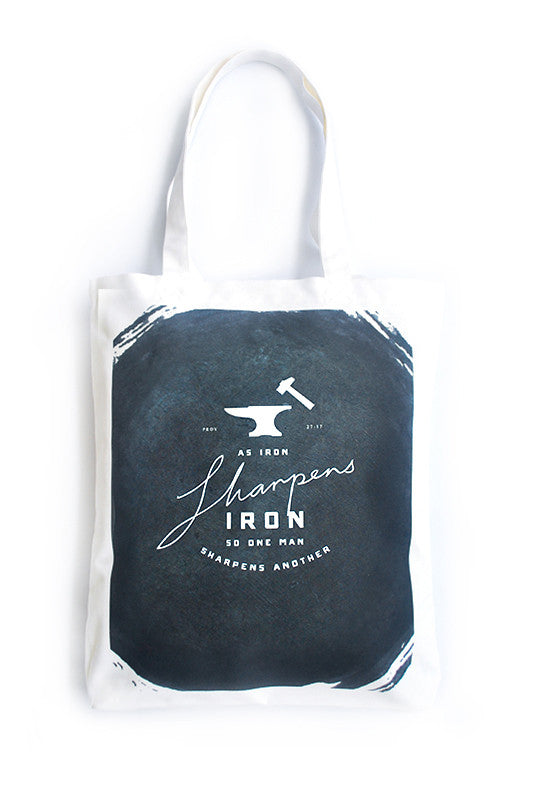 Iron Sharpens Iron {Organic Tote}