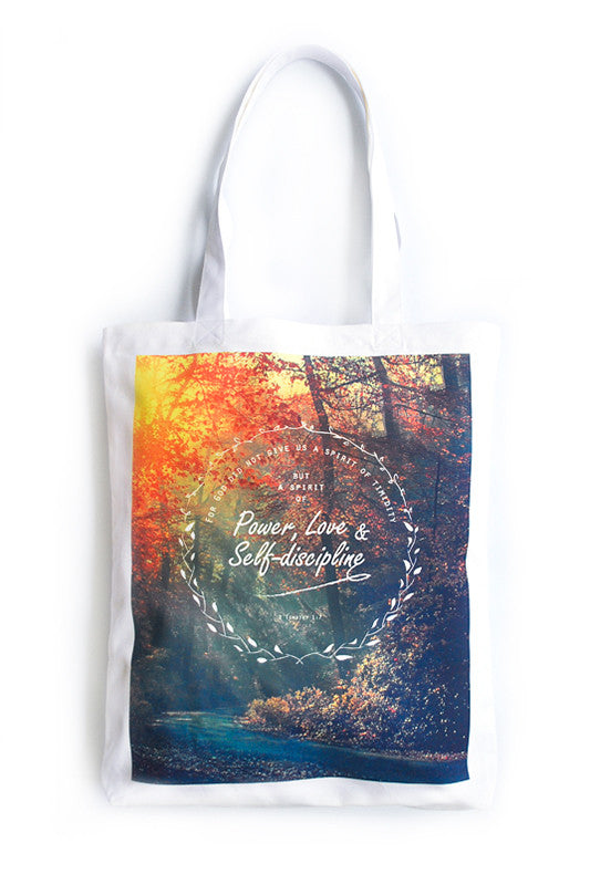 Power, Love & Self-discipline {Organic Tote}