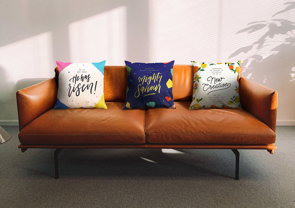 Cushions make good addition to family couches and living room. Home decor ideas'