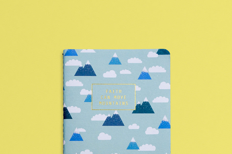 Faith hey new day faith can move mountains pocket notebook