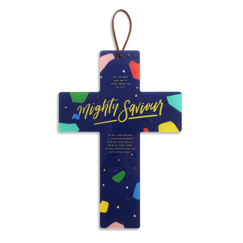 Waterproof Acrylic Cross Wall Decoration with Bible Verses. Creative room decor ideas.