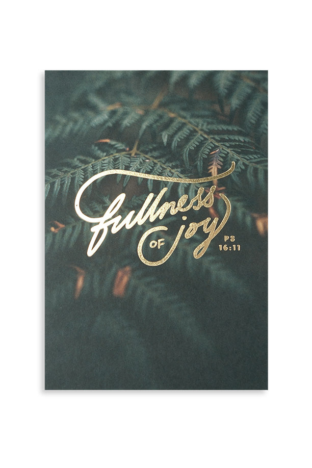 Fullness of joy. Book of Psalms illustrated typography card.
