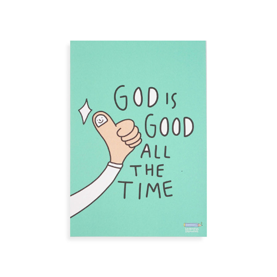 God Is Good All The Time {Postcard}