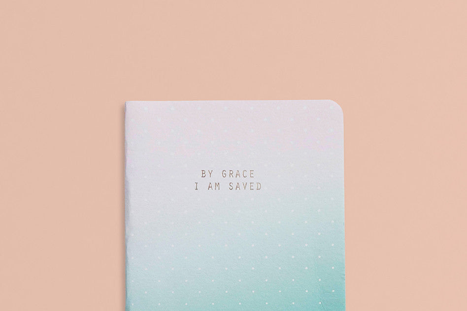 Grace hey new day by grace i am saved pocket notebook