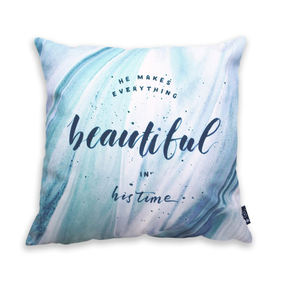 Beautiful In His Time {Cushion Cover}