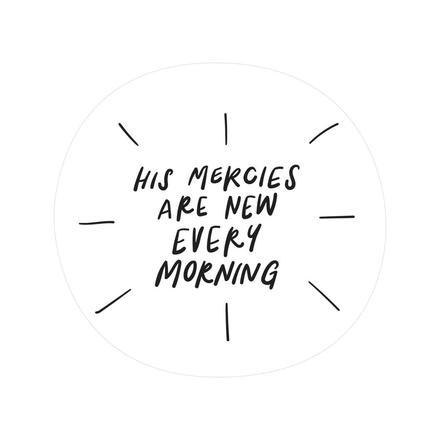 His Mercies {Mirror Decal Sticker}
