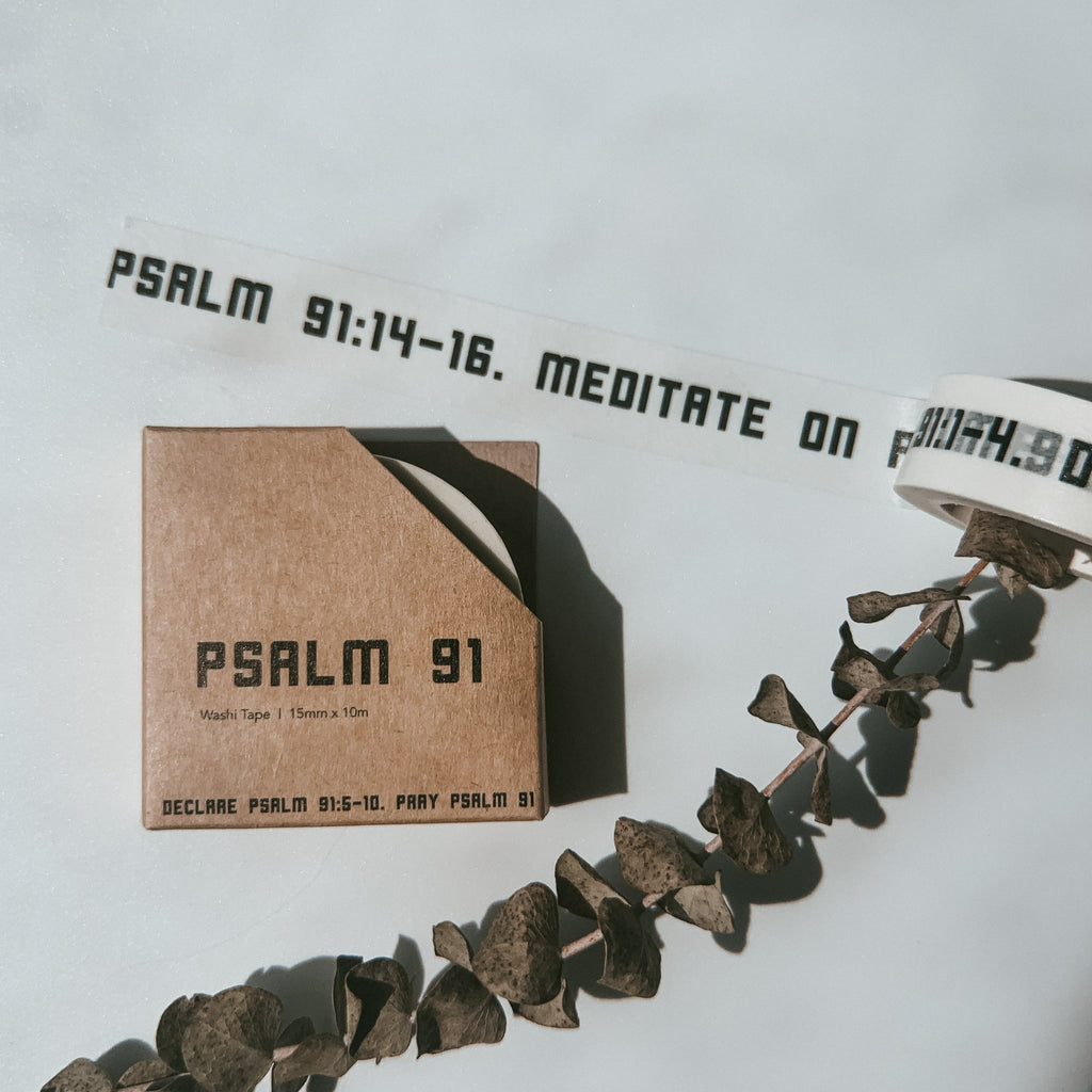 Psalm 91 {Washi Tape}