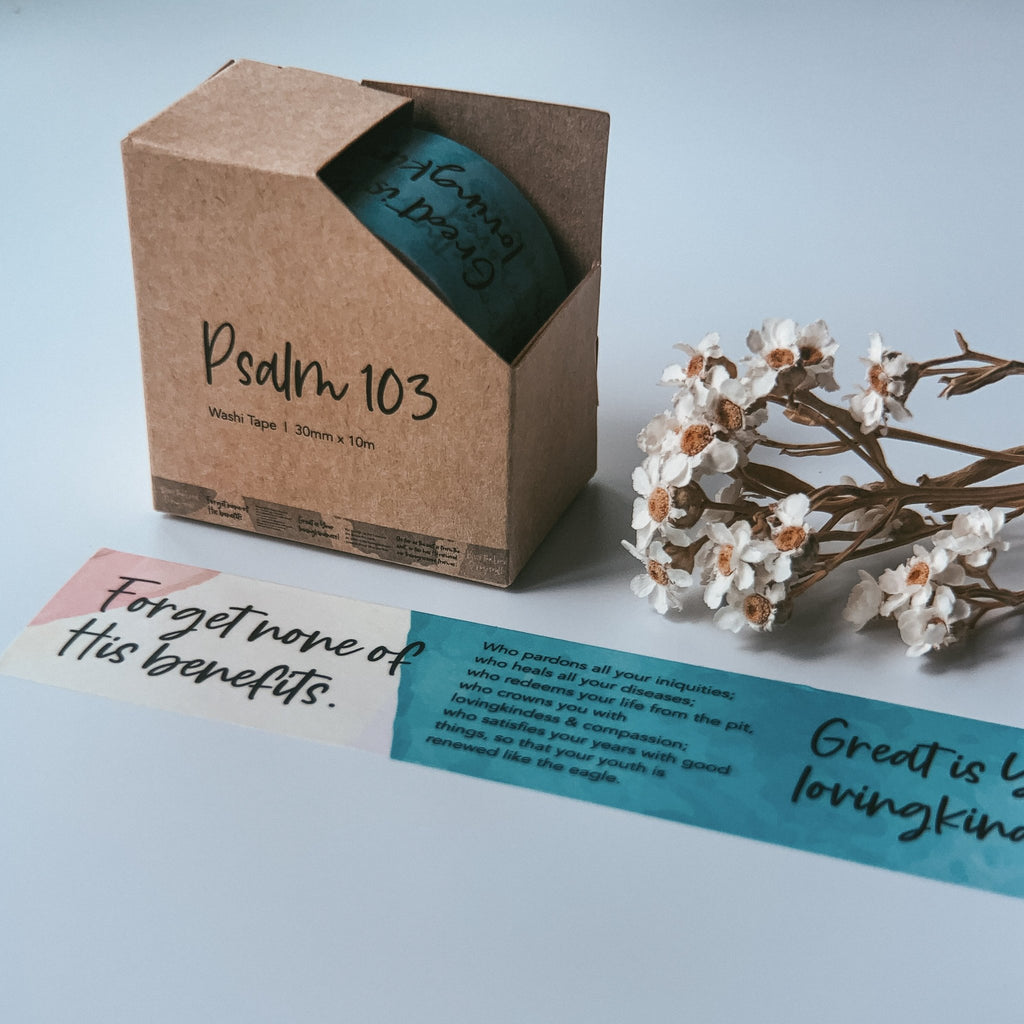 Psalm 103 {Washi Tape}