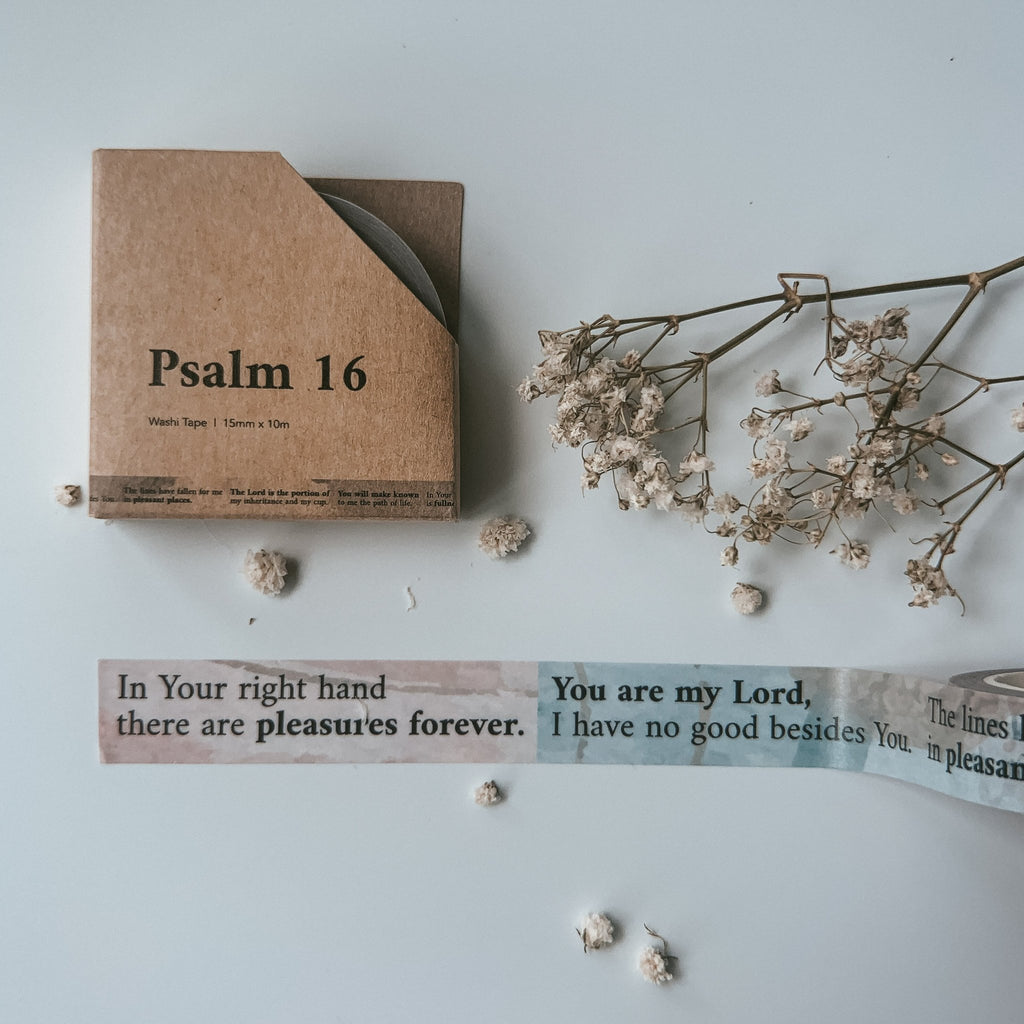 Psalm 16 {Washi Tape}