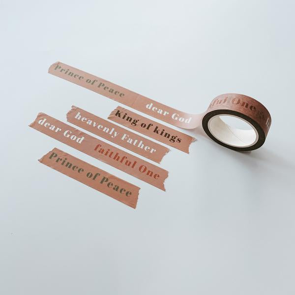 Gift some washi tape to your friends who loves to do bible studies or journal to remind them that you are thinking of them