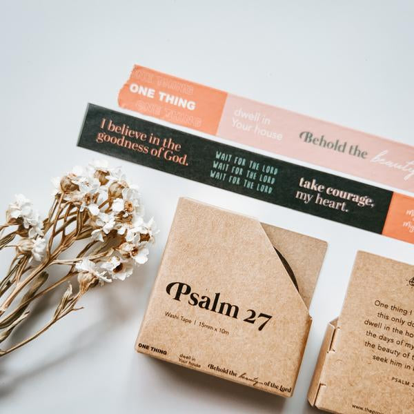 Beautiful designed bible verses in washi tapes