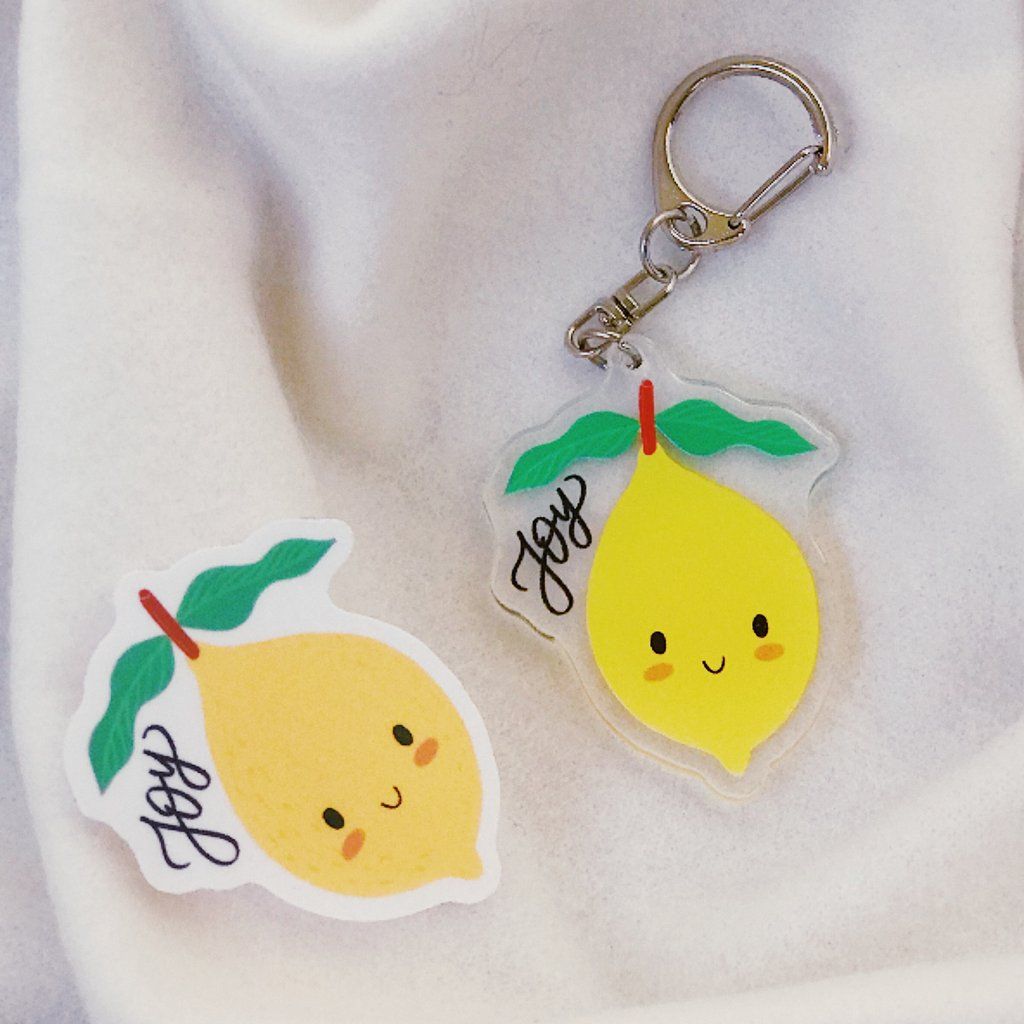 Joy {Lemon} | Acrylic Keychain