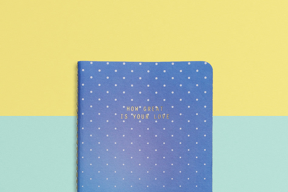 Love heynewday how great is your love pocket notebook