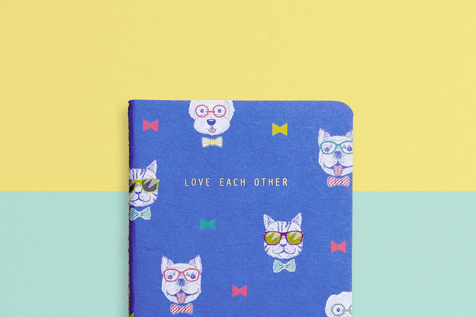 hey new day love each other pocket notebook