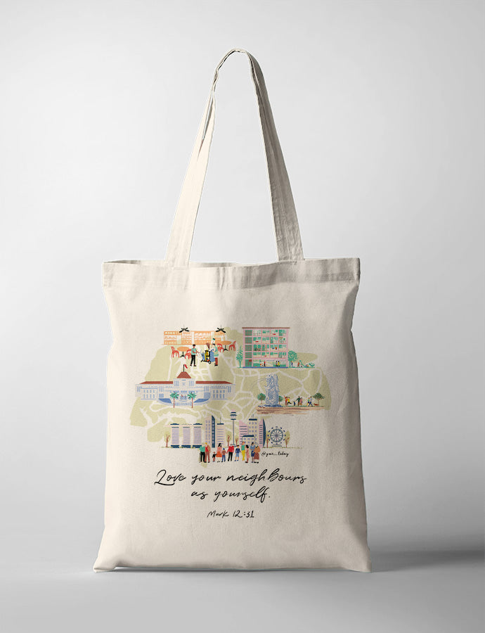 Love Your Neighbours (MAP) {Tote Bag}