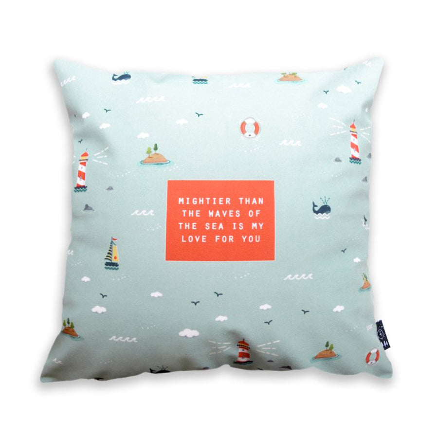 Mightier Than The Waves {Cushion Cover}