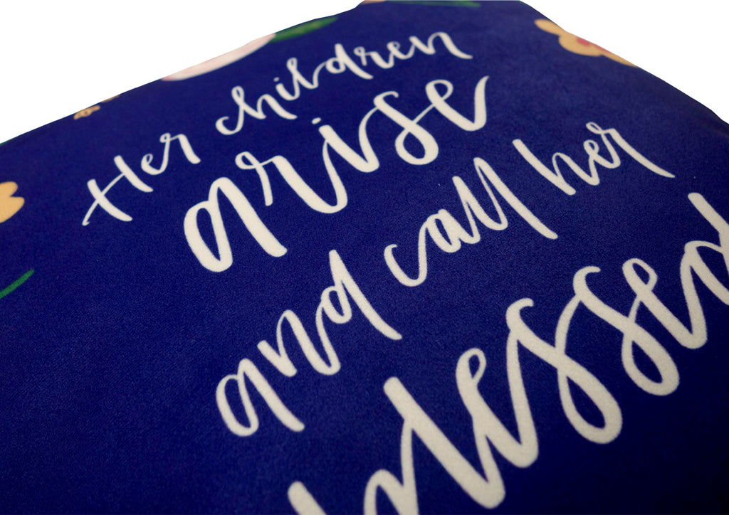 Gift for Christian lady Cushion cover by The Commandment Co made of super soft velvet