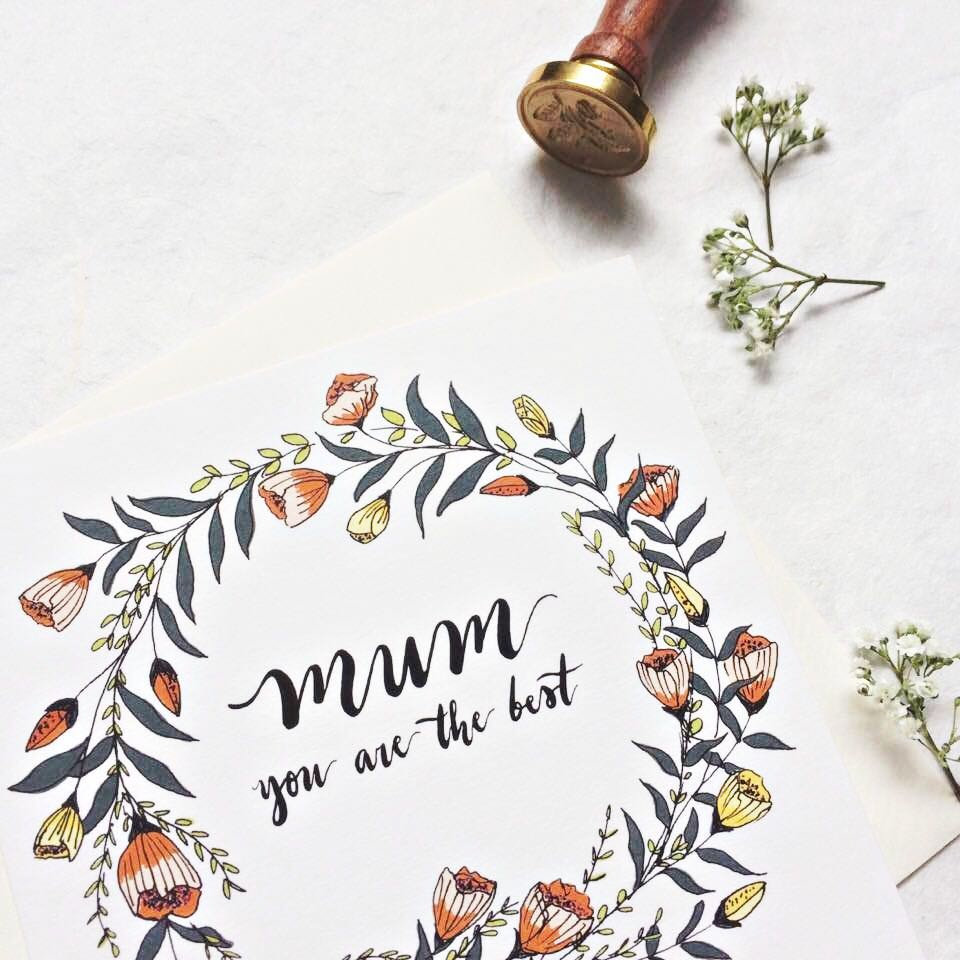 Brush Lettering and Floral Illustration {Workshop} 7 Oct SATURDAY