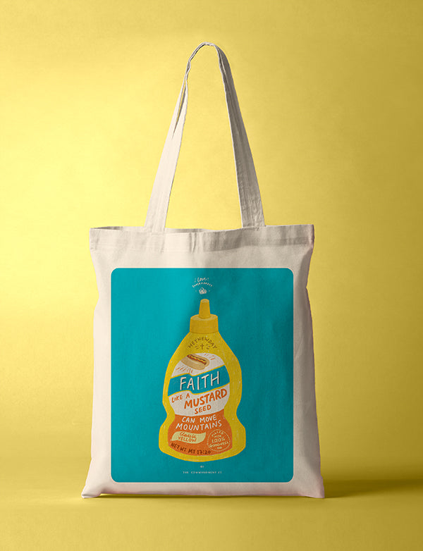 Faith Mustard Sauce {Tote Bag}