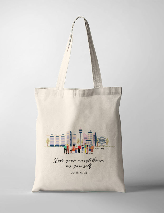 Love Your Neighbours (Skyline) {Tote Bag}