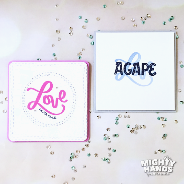 DIY coaster and card designs made by stamping