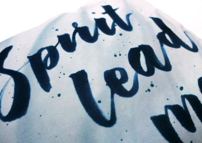Spirit Lead Me Inspire Calligraphy Design Christian Encourage