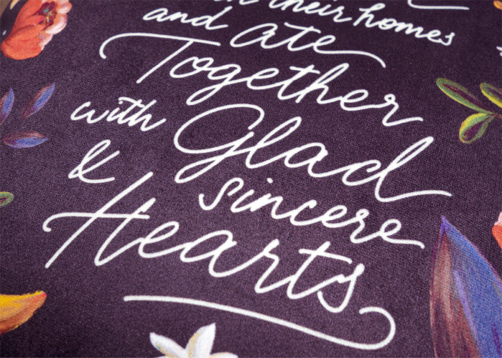 With Glad & Sincere Hearts {Cushion Cover}