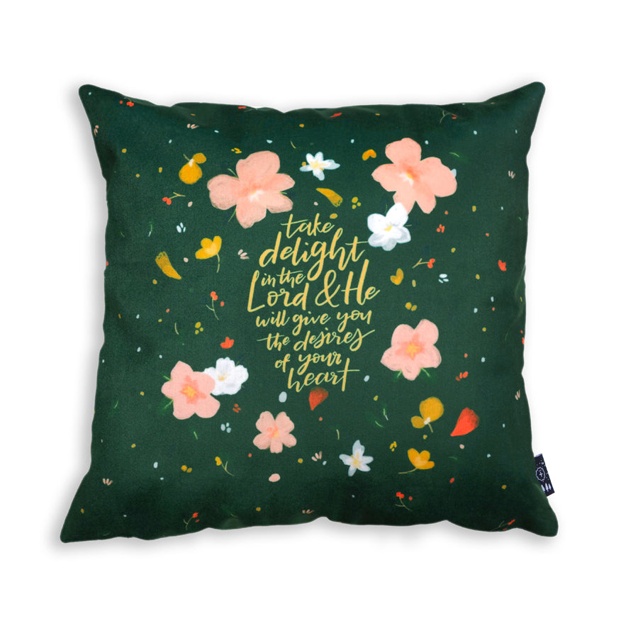 Take delight in the Lord {Cushion Cover}