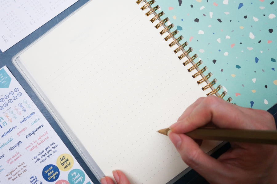 Dotted pages makes it easy for bullet journalling and decorating