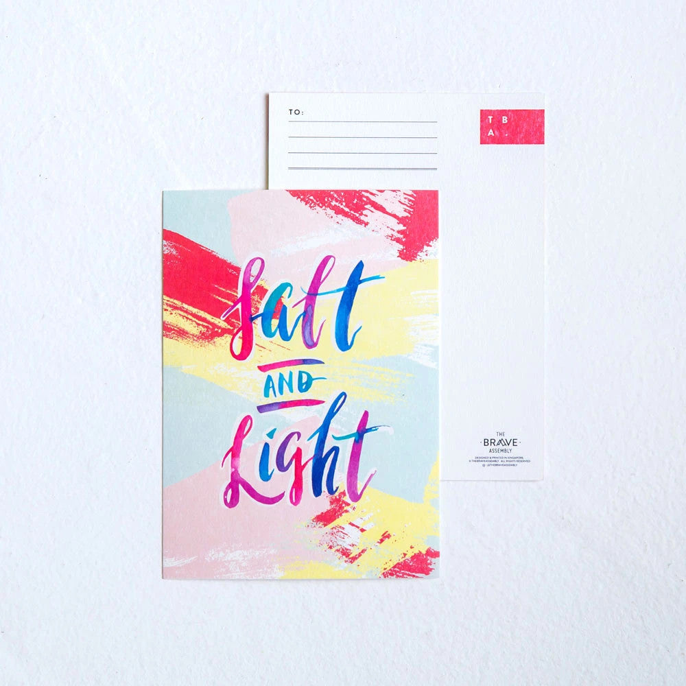 The back of the greeting card can be used as a postcard, or to write messages.